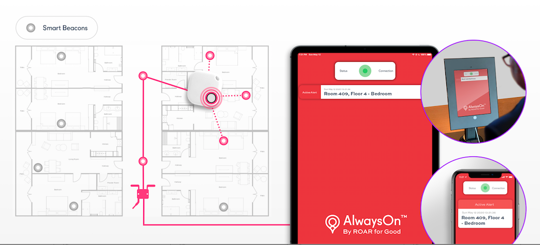 Smart beacons and our AlwaysOn BLE-mesh technology.